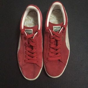 "Red Puma Suede Men""s Sneakers"